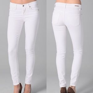 CoH Thompson Mid Rise Skinny Jeans White